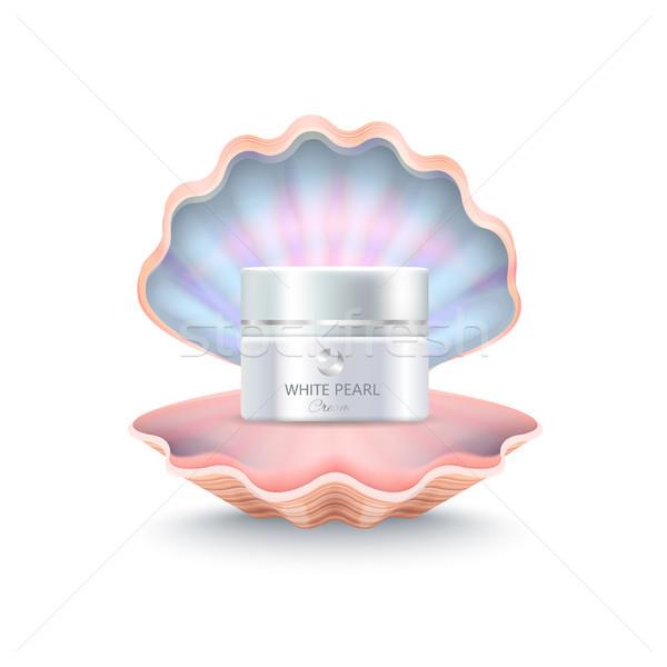 Brand Face Cream in Shell Vector Illustration Stock photo © robuart