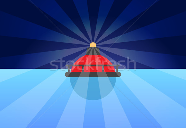 Rounded Red Buoy Banner Color Vector Illustration Stock photo © robuart