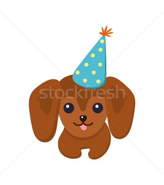 Bassê feliz cão cartaz animal de estimação Foto stock © robuart