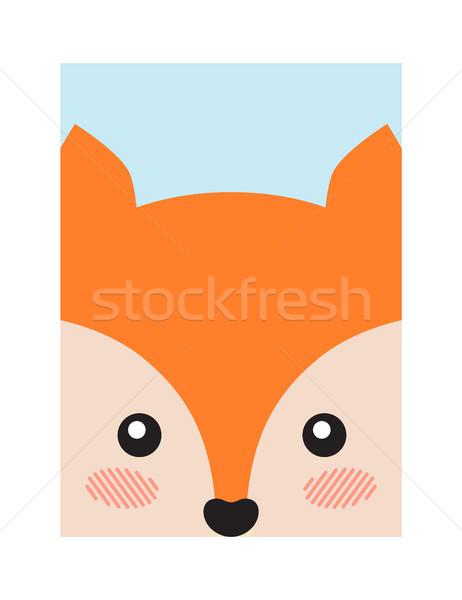 Fox Head Book Cover Design Vector Illustration Stock photo © robuart