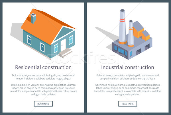 Residential and Industrial Web Vector Illustration Stock photo © robuart