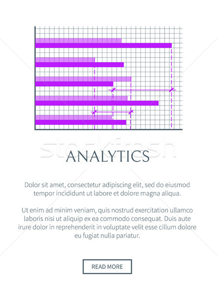 Analytics Web Page with Text Vector Illustration Stock photo © robuart