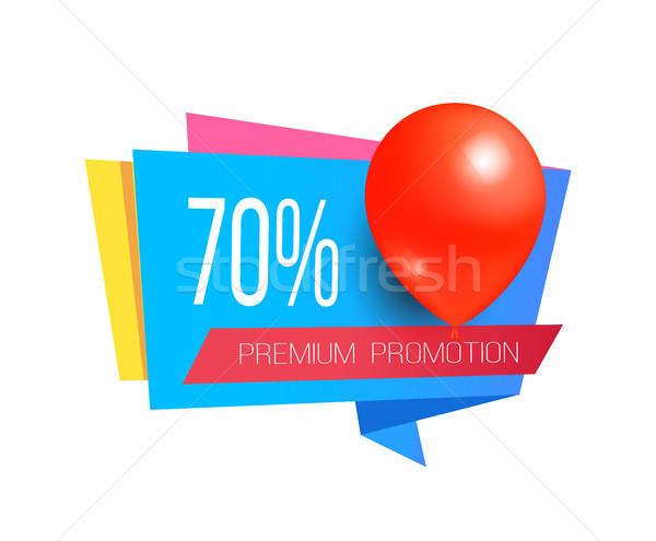 Prêmio promoção venda promo etiqueta balões Foto stock © robuart