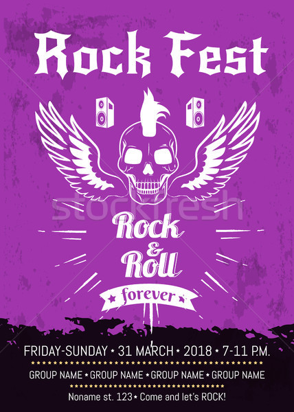 Rock n Roll Fest Forever Advertising Poster Stock photo © robuart