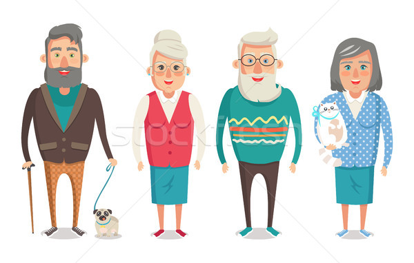 Grandparents People Collection Vector Illustration Stock photo © robuart