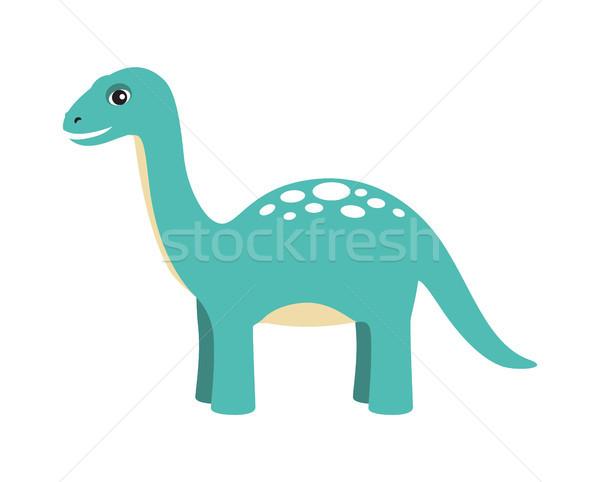 Apatosaurus Dinosaur Type Vector Illustration Stock photo © robuart