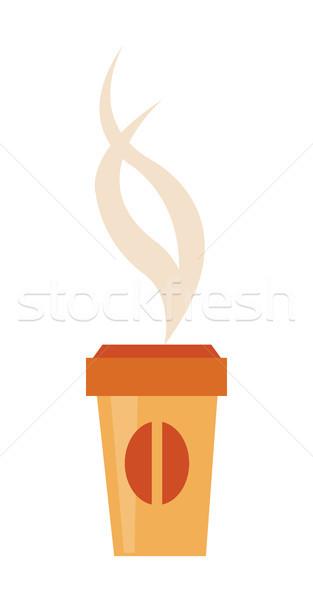 бумаги Кубок вкусный горячей кофе охватывать Сток-фото © robuart