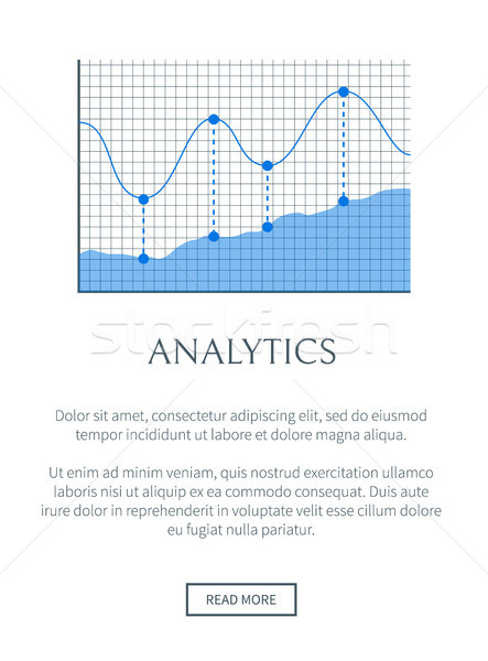 Analytics banner kleurrijk tekst monster informatie Stockfoto © robuart