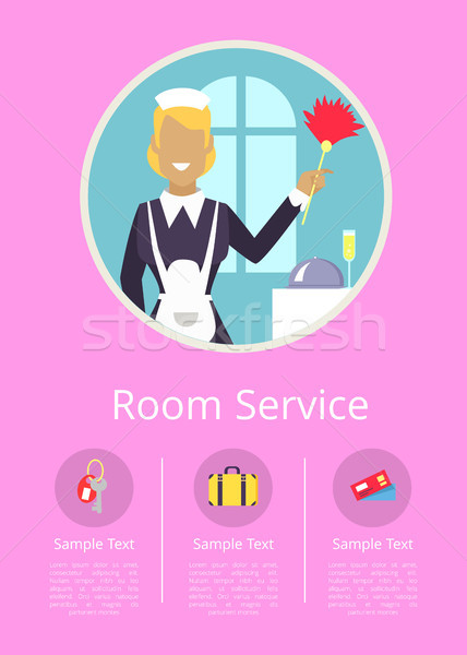 Roomservice internet pagina werkster hotel uniform Stockfoto © robuart