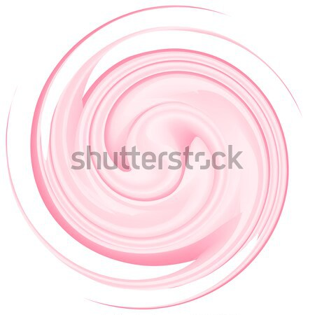 Milk yogurt cream curl isolated on white background Stock photo © robuart