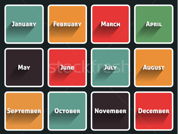 Month flat design Stock photo © robuart