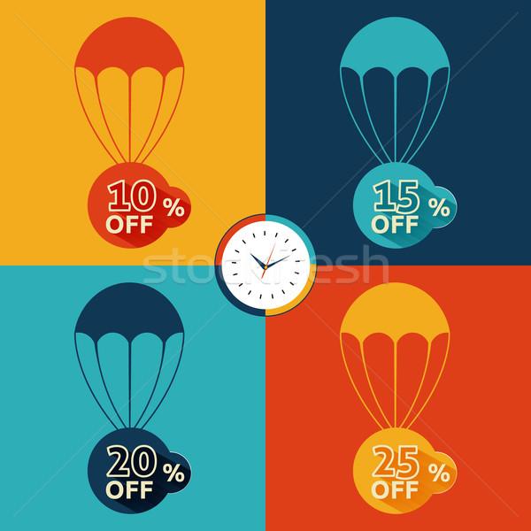 Discount parachute set Stock photo © robuart