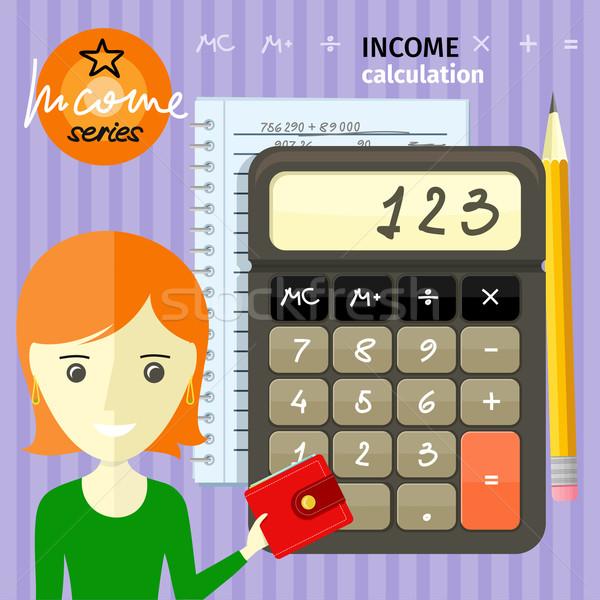 Income calculation concept Stock photo © robuart