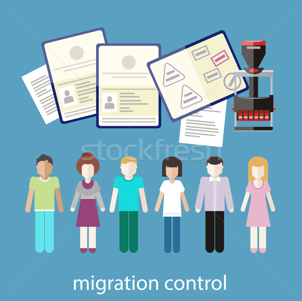 Migration control Stock photo © robuart