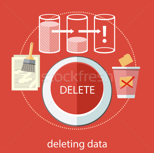 Deleting data Stock photo © robuart