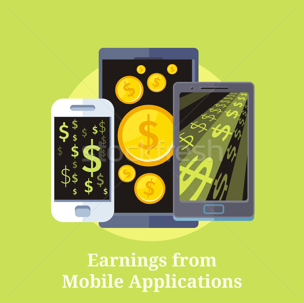 Earning from Mobile Applications Stock photo © robuart