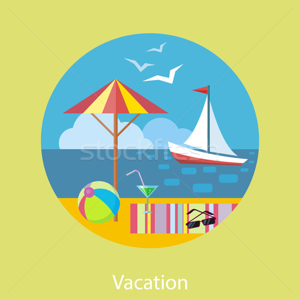 Traveling and Planning a Summer Vacation Stock photo © robuart