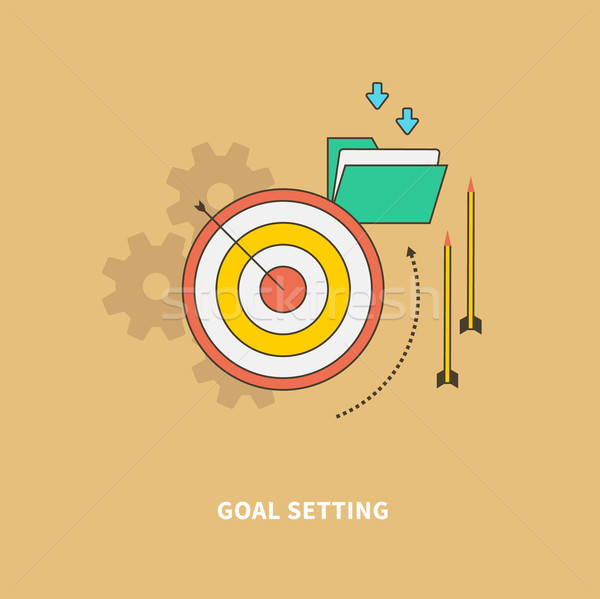Beginning of the Business Process is Goal Setting Stock photo © robuart