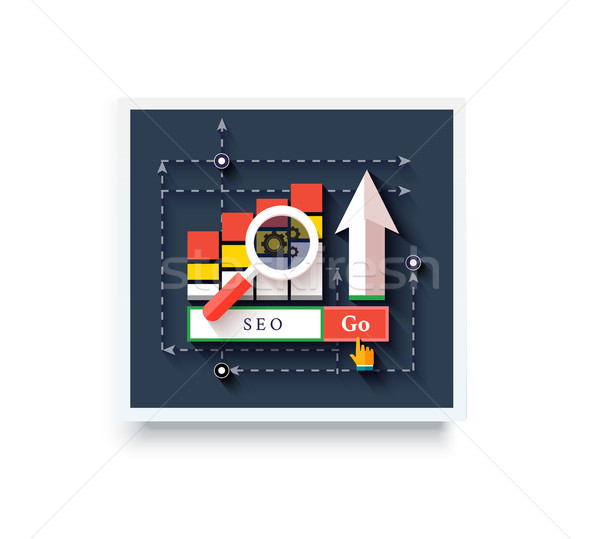 Stock photo:  SEO Icons Poster