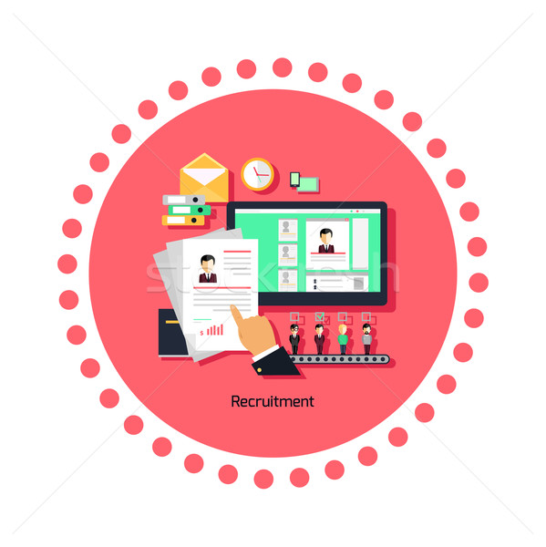 Recruitment Concept Icon Flat Design Stock photo © robuart