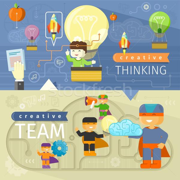 創造的思考 創造 チーム 考え デザイン 創造的な人々 ストックフォト © robuart