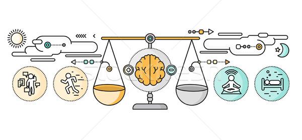 Diagnose hersenen psychologie ontwerp psychiatrie therapie Stockfoto © robuart