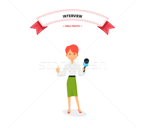 Journalists Team People Group Flat Style Stock photo © robuart