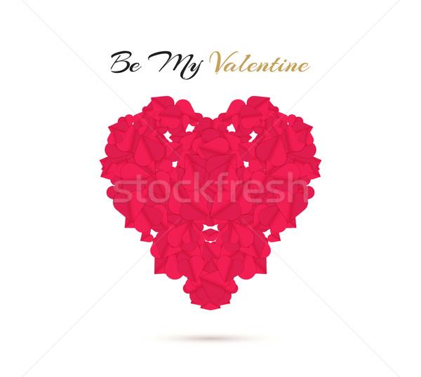 Feliz día de san valentín mi San Valentín deshierbe elemento Foto stock © robuart