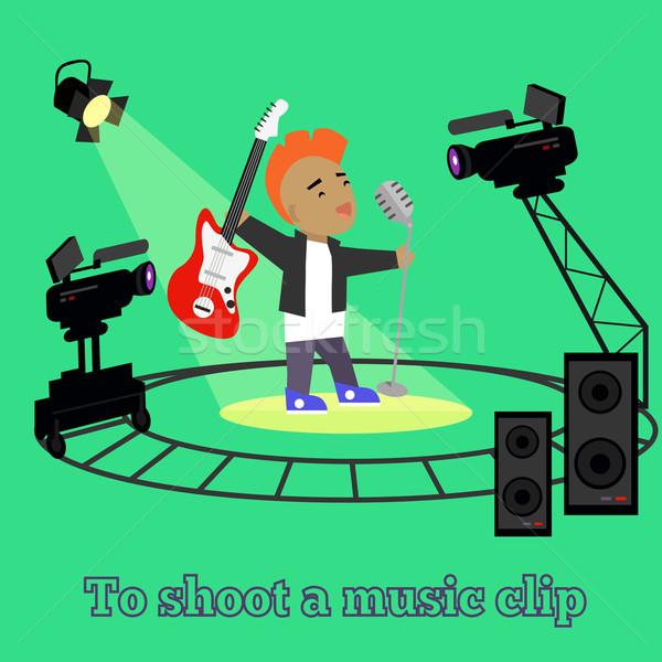Muziek clip camera projector schieten uitrusting Stockfoto © robuart