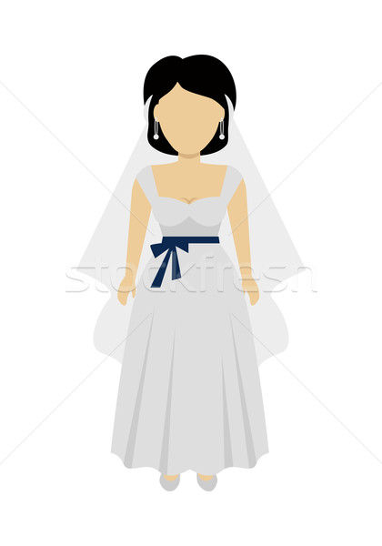 Woman Bride Character Vector Illustration. Stock photo © robuart