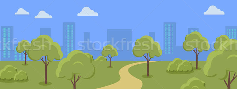 Urban Cityscape with Park. Stock photo © robuart