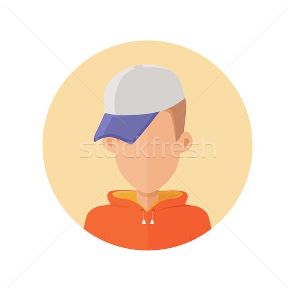 Fiatalember avatar tulajdonságok elegáns rajz terv Stock fotó © robuart
