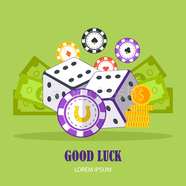 Good Luck Concept Vector Banner In Flat Design. Stock photo © robuart