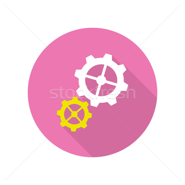 Gear Icons Web Button. Strategic Management Stock photo © robuart