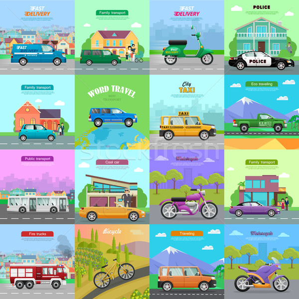 Different Means of Transportation. Auto Icons. Stock photo © robuart