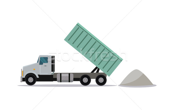 Heavy Construction Tipper With Raised Container Stock photo © robuart