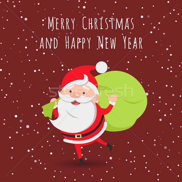 Merry Christmas and Happy New Year. Santa Claus Stock photo © robuart