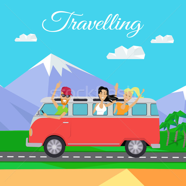 People Traveling by Minibus Stock photo © robuart