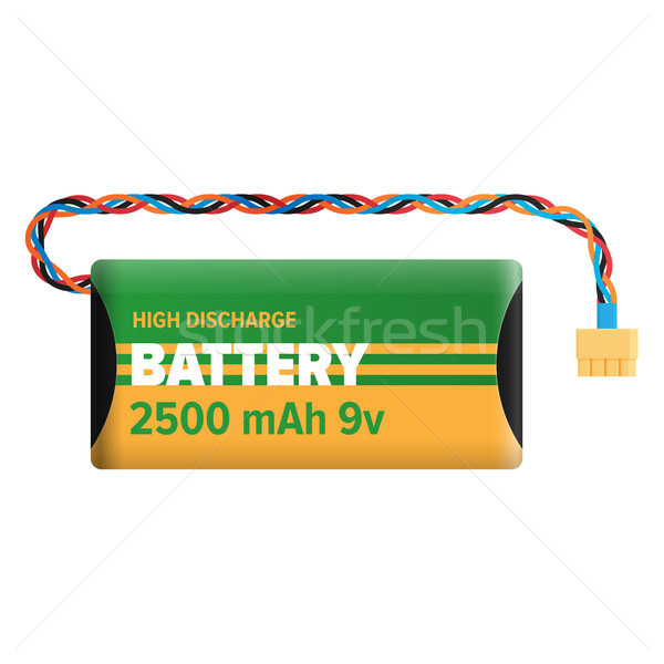 Powerful Charging Battery Isolated Illustration Stock photo © robuart