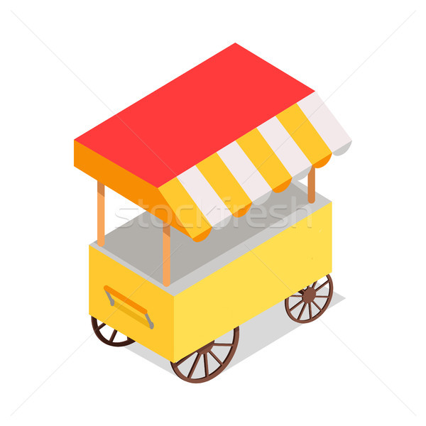 Streetfood Trolley with Tent Isolated illustration Stock photo © robuart
