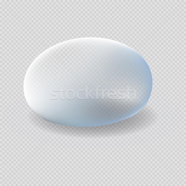 Wody kropelka biały niebieski Zdjęcia stock © robuart