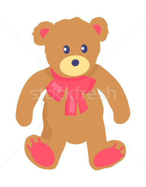 Vector Illustration of Toy Teddy Bear with Baw Stock photo © robuart