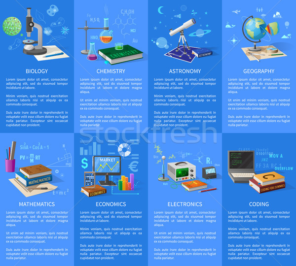 Educational University Subjects Posters with Text Stock photo © robuart