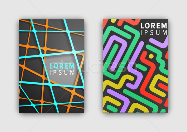 Set of Two Colorful Patterns Vector Illustration Stock photo © robuart