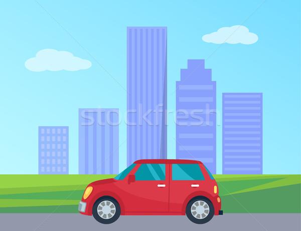 Private Automobile in City Vector Illustration Stock photo © robuart