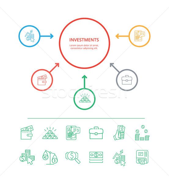 Investments Visualization Vector Illustration Stock photo © robuart