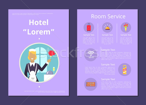 Hotel Room Service Information List Illustration Stock photo © robuart