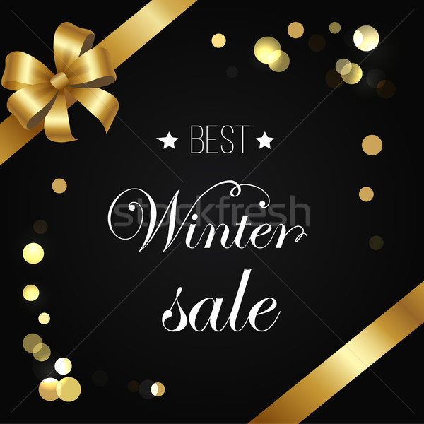 Best Winter Sale Poster Vector Sparkling Elements Stock photo © robuart