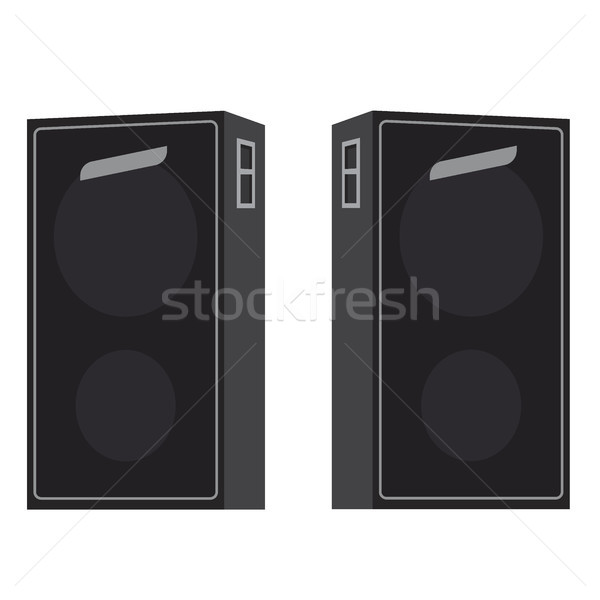 Acoustic Loudspeakers Vector Illustration Isolated Stock photo © robuart