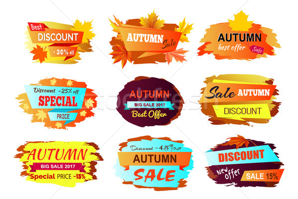 Autumn Discount New Offer Vector Illustration Stock photo © robuart